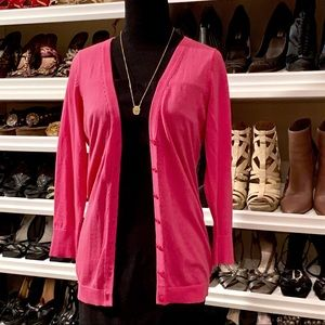 The Limited Hot Pink Button Up Cardigan NWT